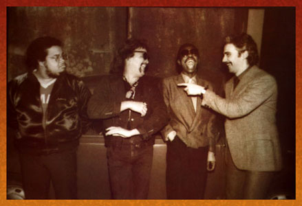 Anthony Jackson, Manolo Badrena, Steve Jordan, Steve Khan. Photo by Tatsuhiko Tanaka