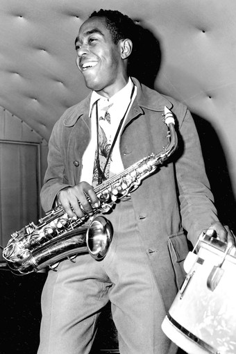Charlie Parker in 1946, photo by Ted Giola