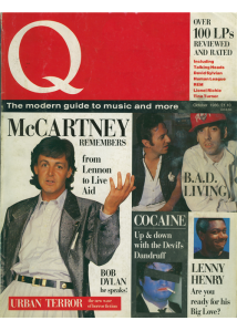 Q Magazine, Issue One, October 1986