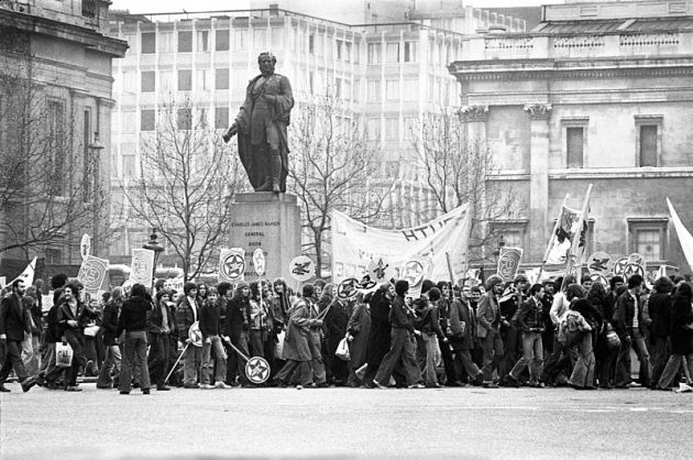 Rock Against Racism march, Trafalgar Square, April 1978
